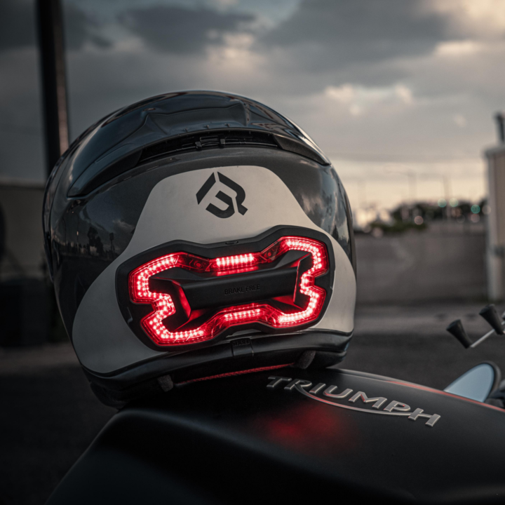 Brake Free Helmet Light